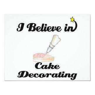 """creo en el adornamiento de la torta invitación 4.25"""" x 5.5"""""""