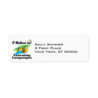 creo en el aprendizaje de idiomas etiqueta de remite