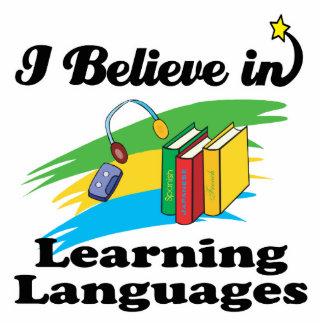 creo en el aprendizaje de idiomas fotoescultura vertical