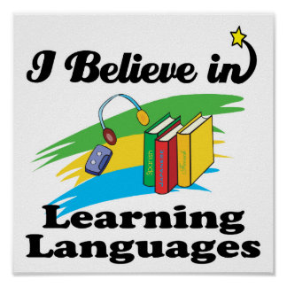 creo en el aprendizaje de idiomas póster