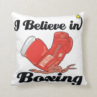 creo en el boxeo cojines