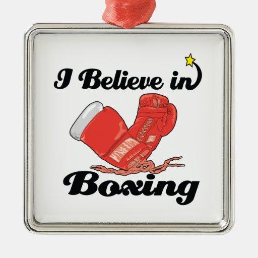 creo en el boxeo ornamentos de reyes