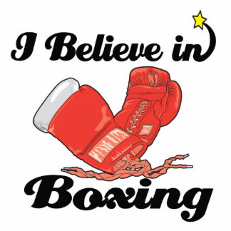 creo en el boxeo fotoescultura vertical