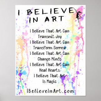 Creo en el manifiesto del arte promocional póster