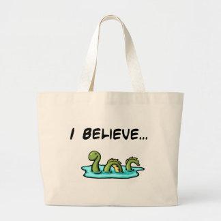 Creo en el monstruo de Loch Ness Bolsa Tela Grande