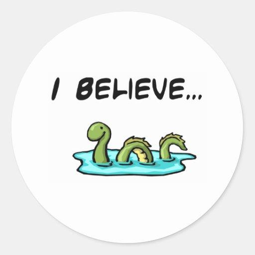 Creo en el monstruo de Loch Ness Etiqueta Redonda