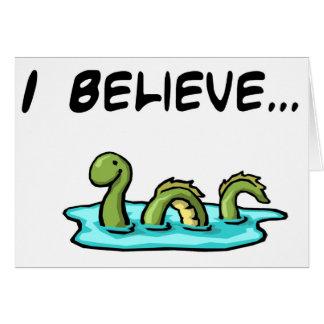 Creo en el monstruo de Loch Ness Tarjeta