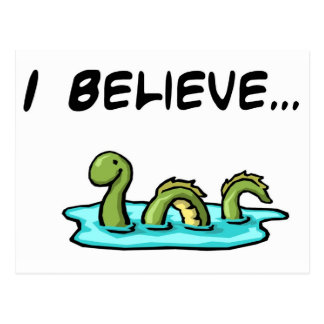 Creo en el monstruo de Loch Ness Tarjeta Postal
