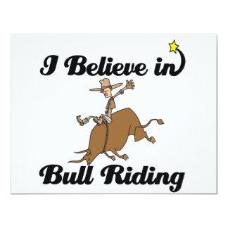 """creo en el montar a caballo del toro invitación 4.25"""" x 5.5"""""""