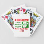 Creo en el navidad NYC 1947 Baraja