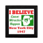 Creo en el navidad NYC 1947 Caja De Joyas
