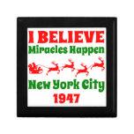Creo en el navidad NYC 1947 Caja De Recuerdo