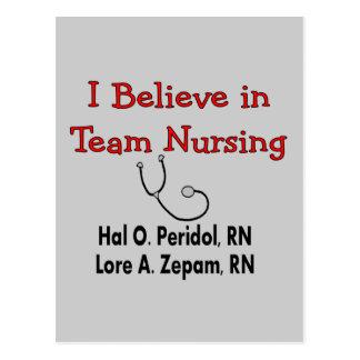 Creo en el oficio de enfermera del EQUIPO--Regalos Postal