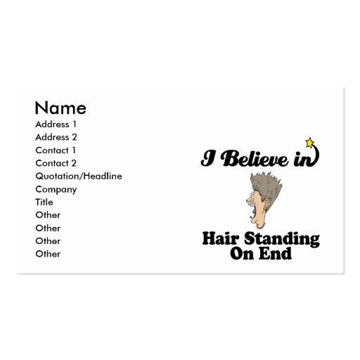 creo en el pelo que se coloca en extremo tarjetas de visita
