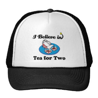 creo en el té para dos gorros bordados