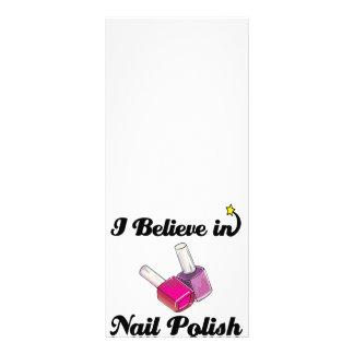 creo en esmalte de uñas lonas personalizadas