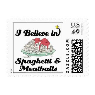 creo en espaguetis y albóndigas sellos