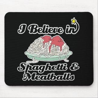 creo en espaguetis y albóndigas alfombrilla de raton