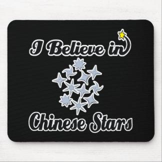 creo en estrellas chinas alfombrillas de raton