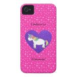 Creo en estrellas del rosa de los unicornios iPhone 4 cobertura