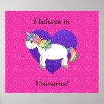 Creo en estrellas del rosa de los unicornios impresiones