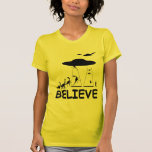 Creo en extranjeros camiseta