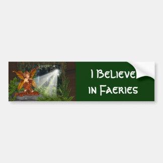 Creo en Faeries Pegatina De Parachoque