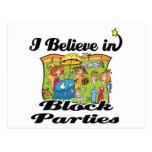 creo en fiestas de barrio tarjetas postales