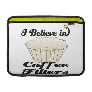 creo en filtros de café fundas MacBook