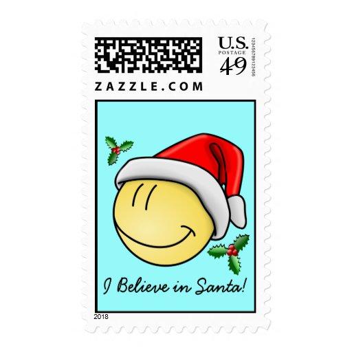 Creo en franqueo sonriente del navidad de Papá Noe