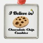 creo en galletas de microprocesador de chocolate adorno de navidad