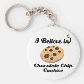 creo en galletas de microprocesador de chocolate llaveros