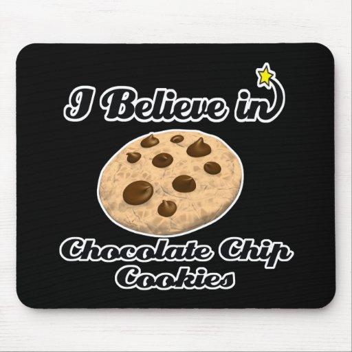 creo en galletas de microprocesador de chocolate tapete de ratón