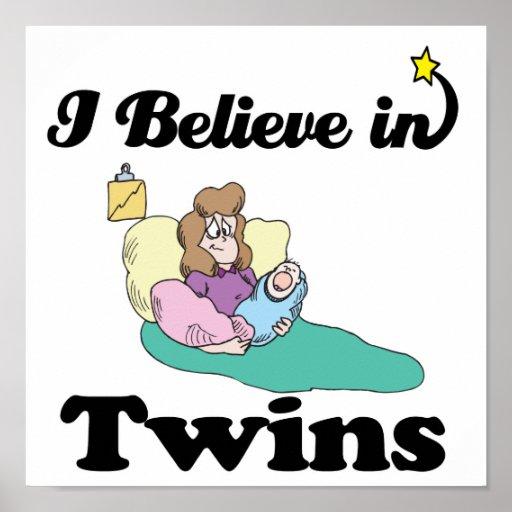 creo en gemelos impresiones