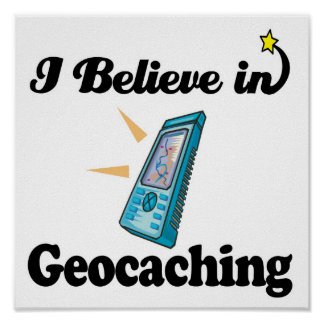 creo en geocaching póster
