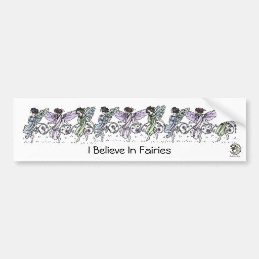 Creo en hadas etiqueta de parachoque