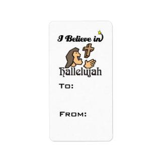 creo en hallelujah etiquetas de dirección