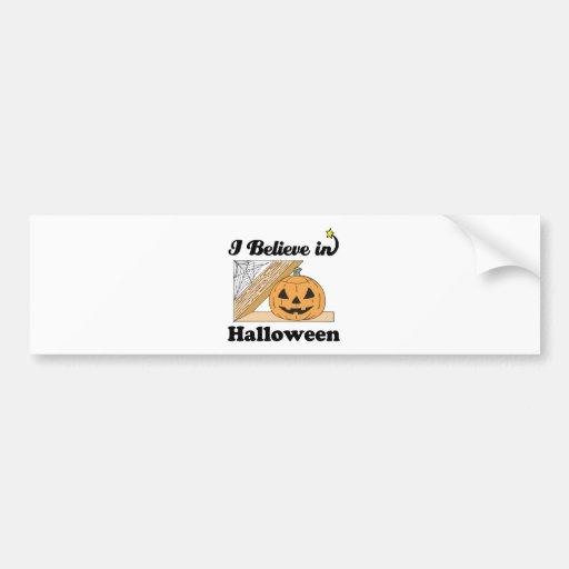 creo en Halloween Pegatina De Parachoque