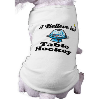 creo en hockey de la tabla playera sin mangas para perro