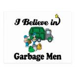 creo en hombres de basura tarjetas postales