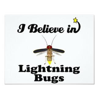 """creo en insectos de relámpago invitación 4.25"""" x 5.5"""""""