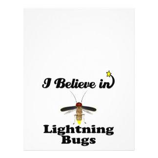 creo en insectos de relámpago tarjetón