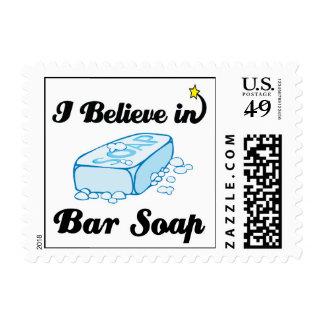 creo en jabón de barra sello