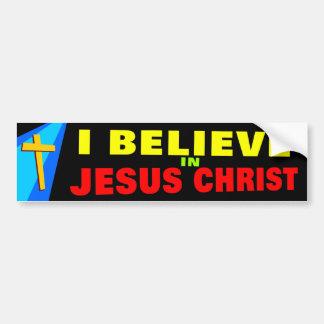 Creo en Jesús Etiqueta De Parachoque