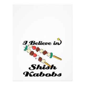 creo en kabobs shish flyer personalizado