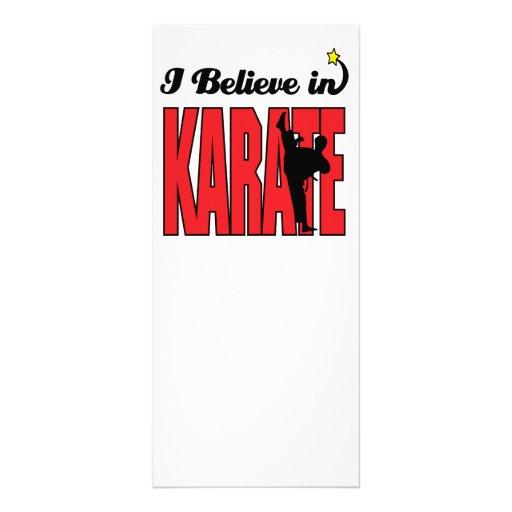creo en karate plantilla de lona