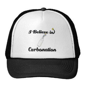 creo en la carbonatación gorros bordados