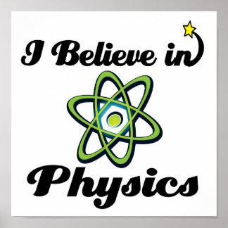 creo en la física posters
