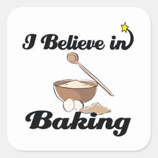 creo en la hornada pegatina cuadrada