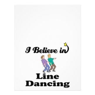 """creo en la línea baile folleto 8.5"""" x 11"""""""